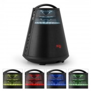 FREESOUND65 Altoparlante Bluetooth Sound 360° LED AUX USB Registratore Nero