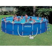 Pool med galvaniserad ram 24.310 Liter (Intex Simbassäng 28252)