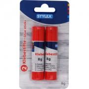 STYLEX Schreibwaren GmbH STYLEX® Klebestift, Klebt schnell, stark und dauerhaft , 1 Packung = 2 x 8 g