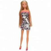 Papusa Simba Steffi Love Swap 29 cm cu rochie gri