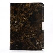 Shop4 - iPad 9.7 (2018) Hoes - Book Cover Marmer Zwart