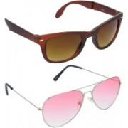 Hrinkar Wayfarer Sunglasses(Brown, Red)