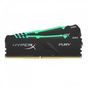 DDR4, KIT 64GB, 4x16GB, 3600MHz, KINGSTON HyperX Fury RGB, CL17 (HX436C17FB3AK4/64)
