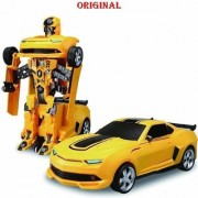 Stookin Battery Operated Converting Car to Robot Robot to Car Automatically Transformer Toy with Light and Sound