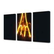Tablou Canvas Premium Abstract Multicolor Lumina Galbena Decoratiuni Moderne pentru Casa 3 x 70 x 100 cm