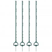 40x VOSS.farming Electric Fence Posts, 157cm, Stirrup, Fiberglass-reinforced, Green