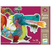 Puzzle gigant - Leul dragon, 58 piese