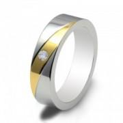 Inel magnetic cu zirconiu, placat cu aur cod VOX 54