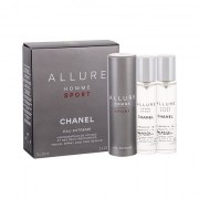 Chanel Allure Homme Sport Eau Extreme eau de toilette twist and spray 3x20 ml uomo scatola danneggiata
