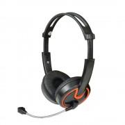 Casti MSONIC Set căşti microfon stereo MH563KO negru-portocaliu