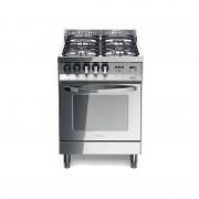 LOFRA 66GVT PL/C Total 60 x 60 inox cuisine, avec miroir en acier inoxydable poli TOTAL-4 brûleurs dont 1 TRIPLE C
