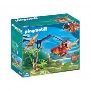 HELICOPTERO CON PLESIOSAURO PLAYMOBIL 9430