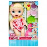 Boneca Baby Alive Loira Lanchinhos Hasbro Ref-b5013