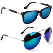 Poloport Aviator Sunglasses(Blue, Blue, Green)