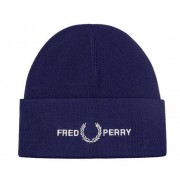 Fred Perry Graphic Beanie, One-size, Midnight
