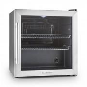 Beersafe L Kühlschrank 50 Liter Klasse B Glastür Edelstahl Silber   50