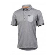 Pearl Izumi Funktions-Shirt Versa, Kurzarm, Polokragen grau