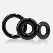 Screaming O [3 Pack] RingO Cock Ring Black RNGO-3P-101