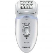 Epilator cu cap pivotant Panasonic ES-ED53-W503 Wet/Dry 48 pensete 4 accesorii 2 viteze Alb