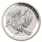 Kookaburra Stříbrná mince 30 AUD Australian Ledňáček 1Kg 2018