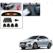 Auto Addict Car Black Reverse Parking Sensor With LED Display For Hyundai Verna Nextgen 2017
