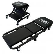 SOGI Carrello sottoauto convertibile a seggiolino sgabello pieghevole SOGI X4-17