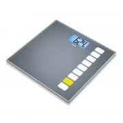 Cantar de sticla GS205 Beurer, 150 kg, LCD, desen imprimat