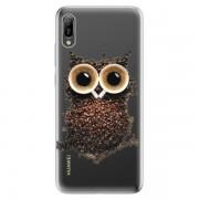 Odolné silikonové pouzdro iSaprio - Owl And Coffee - Huawei Y6 2019