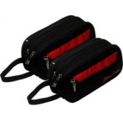 Kuber Industries Multi purpose Kit, Shaving kit, Travelling Kit (Canvas) Set of 2 Pcs Black (SHVK03) Travel Shaving Bag(Black)