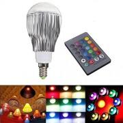 Farebná Led žiarovka E14, 16 farieb 9 wattov