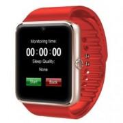 Ceas Smartwatch cu Telefon iUni GT08 Bluetooth Camera 1.3 MP Ecran LCD antizgarieturi Red Bonus Bratara Roca Vulcanica unisex