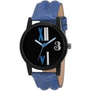 New Modish Style Attractive Blue Leather Strap Watch For Men Women Watch - For Boys Girls