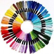 DIY Crafts 45 Skeins Embroidery Floss Cross Stitch Thread (Rainbow Color)