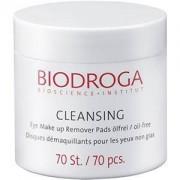 Biodroga Cuidado facial Cleansing Eye Make-up Remover Pads 70 Stk.