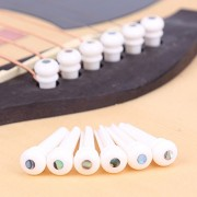 Cattle Bone Guitar Endpin with Abalone Dot Bridge End Pin for Acoustic Guitar
