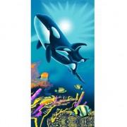 Geen Strandlaken kind orka met baby 75 x 150 Multi