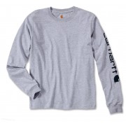 Carhartt Logo Camisa de manga larga Gris Claro XXL