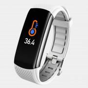 LEMONDA Smart Watch C6T 0.96'' Color Screen Temperature Monitoring HR Bracelet - White