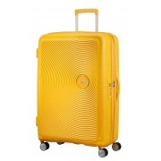 American Tourister Soundbox 77cm 4-Wheel Expandable Suitcase - Golden Yellow