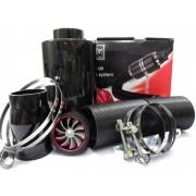 Filtru de aer Racing Style Carbon, cu turbina functionala.