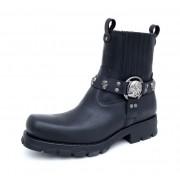 bottes en cuir pour femmes - NEW ROCK - M.7621-S1