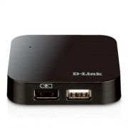 HUB D-Link DUB-H4, 4-Port, do480 Mbps/USB2.0 Cable A/B 1.8m
