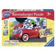 Ravensburger Topolino, Minnie & Co. Puzzle 2x12 pezzi (07565)
