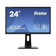 LED-monitor 61 cm (24 inch) Iiyama B2482HD-B1 Energielabel n.v.t. 1920 x 1080 pix Full HD 5 ms DVI, VGA TN LED