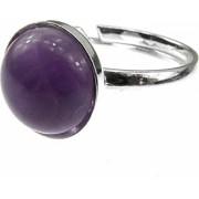 Inel argint reglabil cu ametist natural lavanda 10 MM GlamBazaar Reglabila cu Ametist Violet tip inel reglabil de argint 925 cu