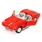 1967 Chevy Corvette, Red - Motormax 73224 - 1/24 scale Diecast Model Toy Car