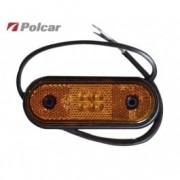 Lampa gabarit auto 12/24V ovala orange cu leduri , 120x67mm , 1 buc.