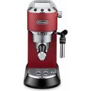 Espressor manual DeLonghi Dedica Style EC685.R 1300W 15 Bar 1.1L Slim Rosu