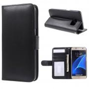 Bolsa tipo Carteira Premium com Função de Suporte para Samsung Galaxy S7 - Preto