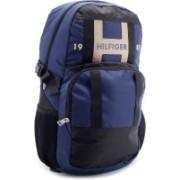Tommy Hilfiger 14 inch Laptop Backpack(Black, Blue)